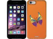 Coveroo Apple iPhone 6/6s Wood Thinshield Case with Butterfly Orange Glimmer, Full-Color Design