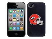 Coveroo Apple iPhone 4/4S Black Thinshield Case with Georgia Helmet, Color Design