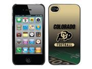 Coveroo Apple iPhone 4/4S Black Thinshield Case with University of Colorado Football Field, Full-Color Design