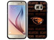 Coveroo Samsung Galaxy S6 Black Guardian Case with Oregon State Repeating, Full-Color Design