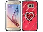 Coveroo Samsung Galaxy S6 Black Guardian Case with Valentine's XOXO, Full-Color Design 9SIA7NX4W07955