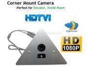 Corner Mount Security Camera 1920x1080P Resolution HDTVI Camera for TVI DVR ONLY