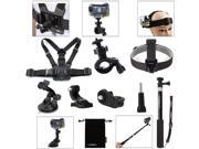 Luxebell 7-in-1 Accessories Kit for Sony Action Cam Hdr-as15/20/30v/100v/as200v/Hdr-az1 Mini Sony Fdr-x1000v/w 4k Action Cam,Extendable Monopod Pole/Bike Mount/ 9SIA7S33DJ5900