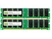 NEMIX RAM 1GB (2 X 512MB) SDRAM PC133 168-pin DIMM Desktop PC Memory