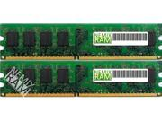 NEMIX RAM 2GB (2 x 1GB) DDR-400MHz PC-3200 184-pin 2.5V 2Rx8 ECC Unbuffered Workstation/Server Memory Module