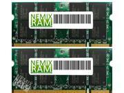 NEMIX RAM 4GB (2 x 2GB) DDR2-800MHz PC2-6400 200-pin 1.8V 2Rx8 Laptop Memory Module
