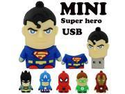 cartoon pendrive u disk America Captain Superman Spiderman Batman pen drive 8GB/16GB/32GB/64GB USB Flash Drive 9SIAAWS48P3286