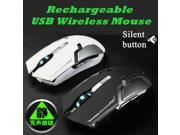 Rechargeable usb Wireless Mouse silent mute noiseless Optical Mouse Gaming mouse for Laptop Computer Mice