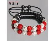 arrival Shambala design Jewelry Crystal clay beads10mm 11  balls Shamballa bracelet  for woman