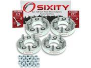 Sixity Auto 4pc 1.25 Thick 5x127mm Wheel Adapters Ford Escape Five Hundred Freestyle Fusion Probe Taurus X Loctite