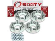 Sixity Auto 4pc 1.25 Lexus 5x114.3mm to 5x120.7mm Wheel Spacers Adapters ES300 ES300h Loctite