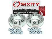 Sixity Auto 2pc 1.5 Thick 5x127mm Wheel Adapters Mitsubishi 3000GT Diamante Eclipse Endeavor Galant Lancer Outlander Starion Van Loctite