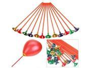 100pcs Plastic Balloon Colorful Holder Sticks Cup Wedding Party Decoration 9SIA7UM3H99534