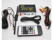 Car Digital TV Receiver DVB T2 Tuner Dual Antenna Mobile Digital TV Box External USB With Remote Control