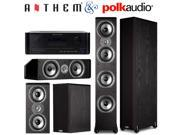 Anthem MRX 710 7-Ch Receiver + Polk Audio (2) TSi500 (2) TSI200 (1) CS20 Bundle