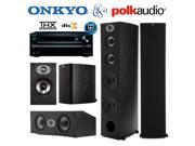 Onkyo TX-NR747 Bundle with Polk (2) TSx 550T, (2) TSx 110B, and (1) TSx 250C