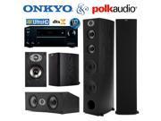 Onkyo TX-NR555 Bundle with Polk (2) TSx 550T, (2) TSx 110B, and (1) TSx 250C