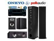 Onkyo TX-NR555 Bundle with Polk (2) TSx 550T, (2) TSx 110B, and (1) TSx 150C