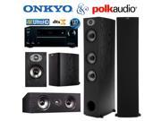 Onkyo TX-NR555 Bundle with Polk (2) TSx 440T, (2) TSx 110B, and (1) TSx 150C