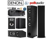 Denon AVR-X1300W Bundle with Polk (2) TSx 440T, (2) TSx 110B, and (1) TSx 250C