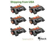 SL 6 PK Generic CE390A 90A Black Toner Cartridge For HP LaserJet M4555f M4555fskm