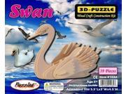 Swan 3D Wooden Puzzle Wood Craft Construction Kit Model Hobby Toy Bird 9SIA7W92UX5010