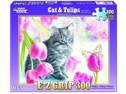 Cats and Tulips 300 Piece Puzzle by White Mountain Puzzles 9SIA7WR38S4278