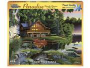 White Mountain Puzzles Paradise - 1000 Piece At the Lake House Jigsaw Puzzle