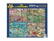 Jan Van Haasteren 4 in 1 Puzzle Pack by Ceaco