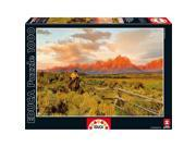 Riding the Fence Line 1000 Piece Puzzle by John N. Hansen