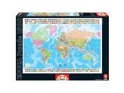 Map of the World 1500 Piece Puzzle by John N. Hansen
