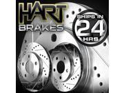 [FRONT KIT]  2 Platinum Hart *DRILLED & SLOTTED* Front Disc Brake Rotors - 2768