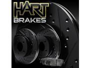[FRONT KIT] Black Hart *DRILLED & SLOTTED* Disc Brake Rotors +Ceramic Pads F1471