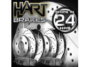 [FRONT+REAR KIT]Platinum Hart -*DRILL & SLOT* Brake Rotors  +CERAMIC Pads- 1358
