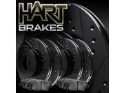 [FULL KIT] BLACK HART DRILL/SLOT BRAKE ROTORS & PAD-Toyota AVALON 2000 - 2004 9SIA7X72RW3885