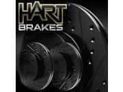 [FRONT] BLACK HART DRILLED SLOTTED BRAKE ROTORS -Toyota PRIUS 2004 - 2009 9SIA7X72RV0034