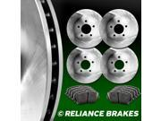 [FRONT+REAR KIT] Reliance *OE REPLACEMENT* Brake Rotors *Plus Ceramic Pads C1071