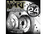 [FRONT KIT]Platinum Hart *DRILLED & SLOTTED* Brake Rotors +CERAMIC Pads- 1711