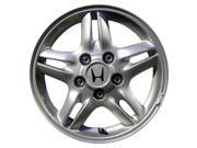 1997 2001 Honda CR V OEM 15x6 Aluminum Alloy Wheel Rim Bright Silver Full Face Painted 63768