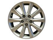 2009 2010 Lexus IS250 OEM 17x8 Alloy Wheel Rim Bright Silver Metallic Full Face Painted 74216