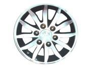 2006-2012 Kia Sedona OEM  17x6.5 Alloy Wheel, Rim Black Painted with Machined Face - 74639
