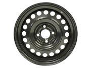 2012-2015 Nissan Versa OEM  15x5.5 Steel Wheel, Rim Flat Black Full Face Painted - 62579
