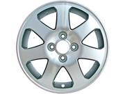 1999-2005 Honda Civic 15x6 Alloy Wheel, Rim Light Sparkle Silver Painted with Machined Face-63793