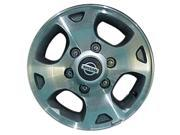 2000-2001 Nissan Xterra OEM  15x7 Alloy Wheel, Rim Medium Charcoal Painted with Machined Face-62380