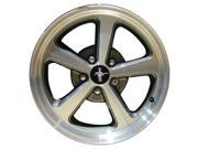 2003-2004 Ford Mustang OEM  17x8 Alloy Wheel Med Sparkle Charcoal Painted with Machined Face-3523