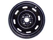 1997-2002 Ford Escort OEM  14x5.5 Steel Wheel, Rim Flat Silver Full Face Painted - 3222