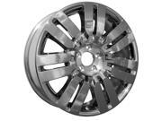 2009-2011 Lincoln MKX 20x7.5 Aluminum Alloy Wheel, Rim Chrome Cladded Face - 3702
