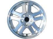 2005-2009 Ford Mustang OEM  17x8 Alloy Wheel, Rim Sparkle Silver Textured with Machined Face-3649