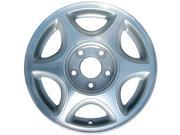 1997-1999 Oldsmobile Cutlass OEM  15x6 Alloy Wheel, Rim Flat Silver Painted with Machined Face - 6027