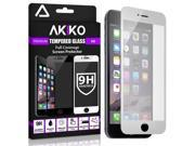 Akiko iPhone 6 6s [4.7] Screen Protector 2.5D Full Screen Tempered Glass Protector [Full Protection Cover w/ Curved Edge] - White 9SIA7X957H3322